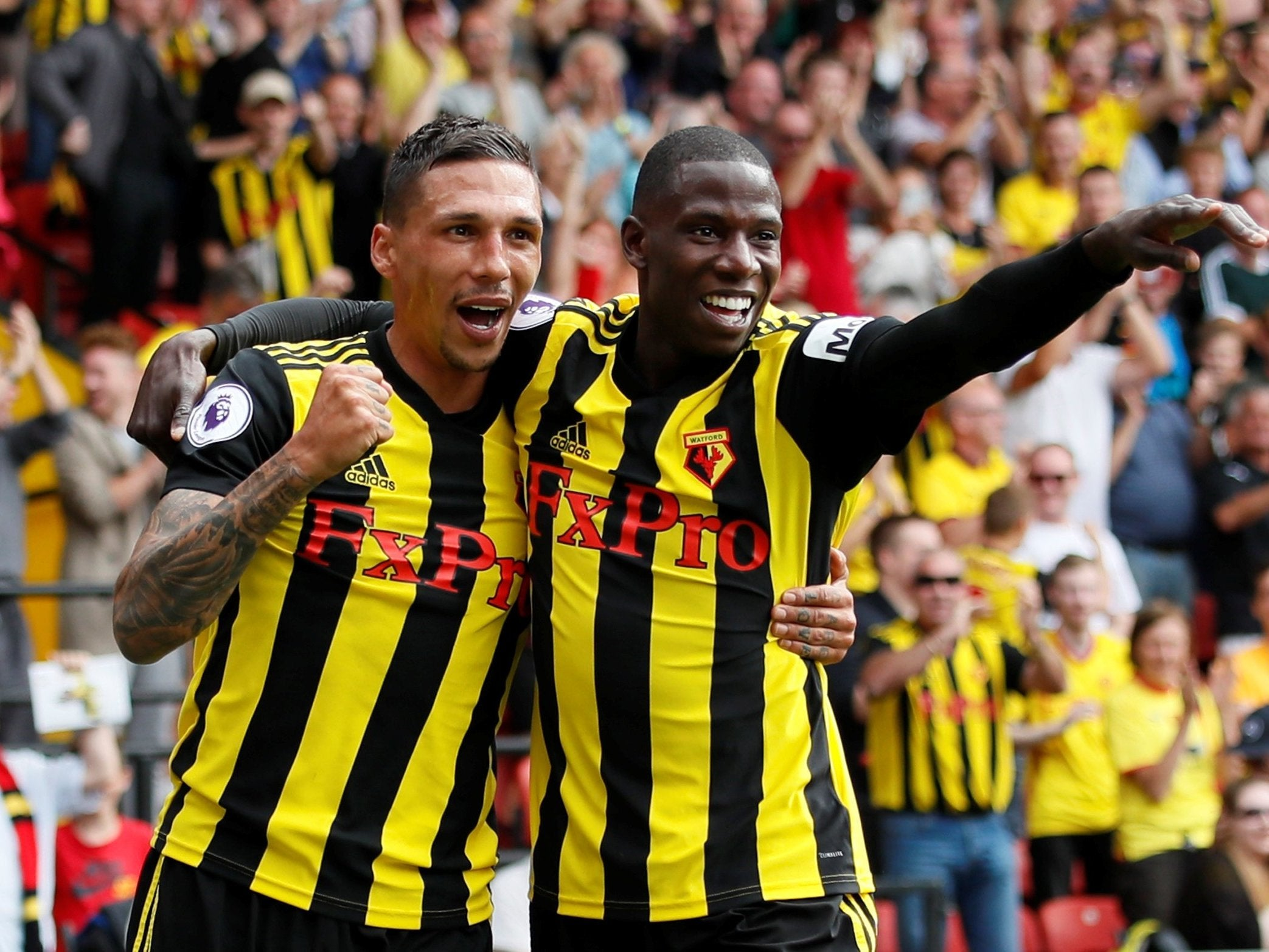 Roberto Pereyra double sees Watford begin new Premier League campaign with a spring in their step