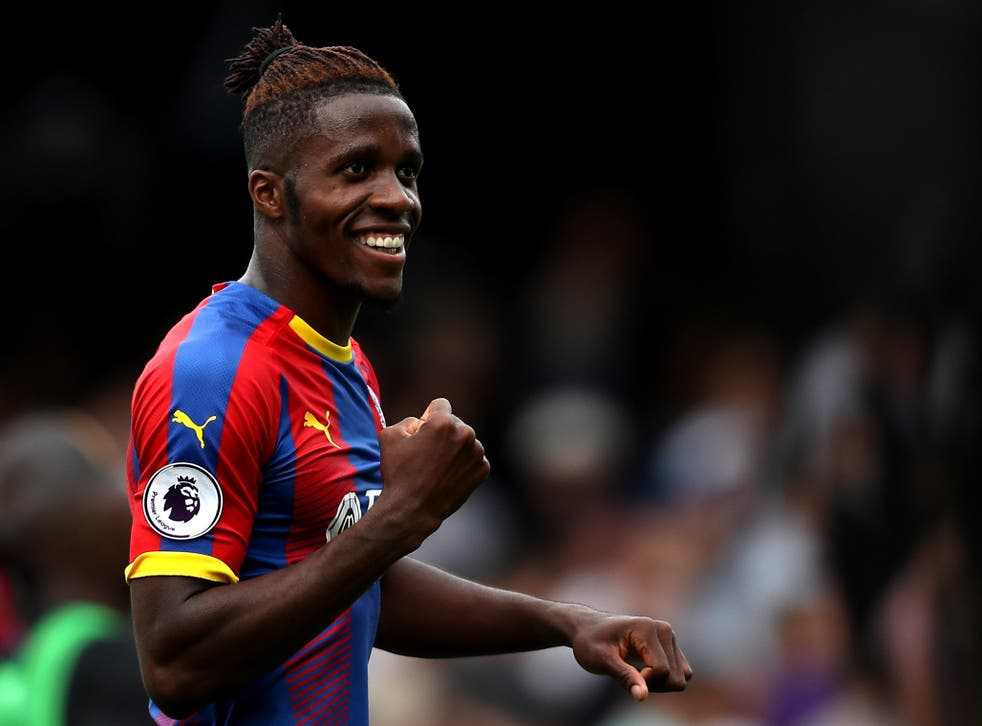 Wilfried Zaha was superb in the 2-0 win over Fulham