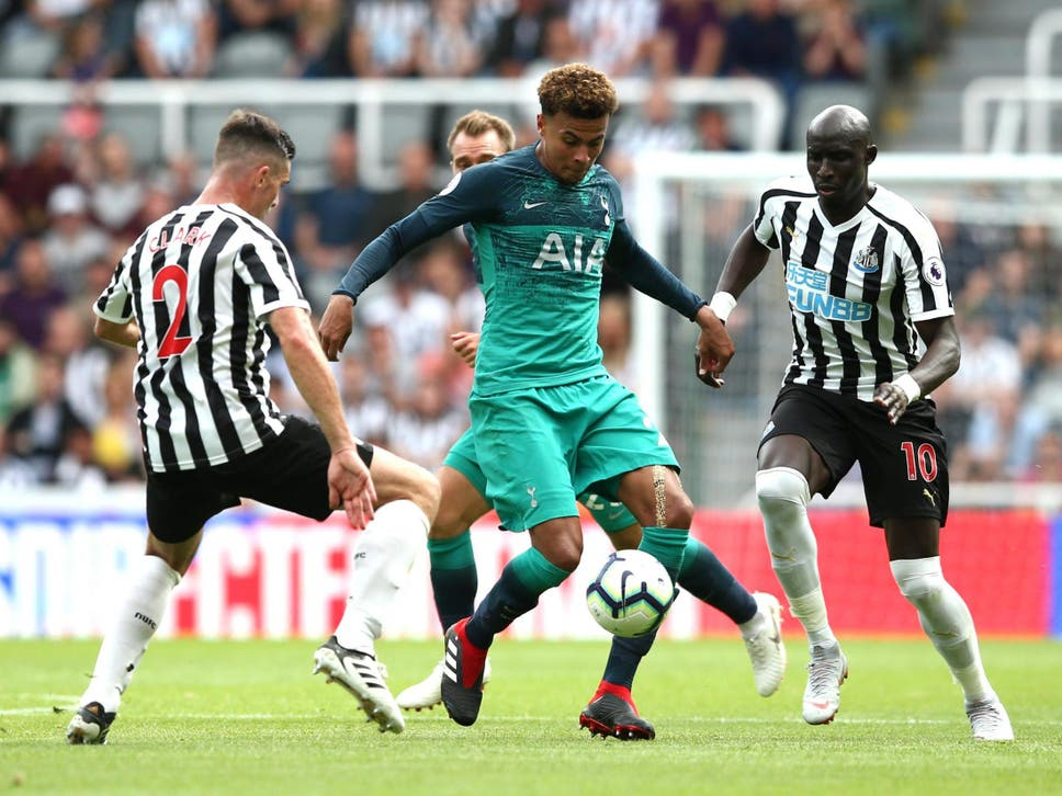 Dele Alli In Action For Tottenham Against Newcastle On Saturday