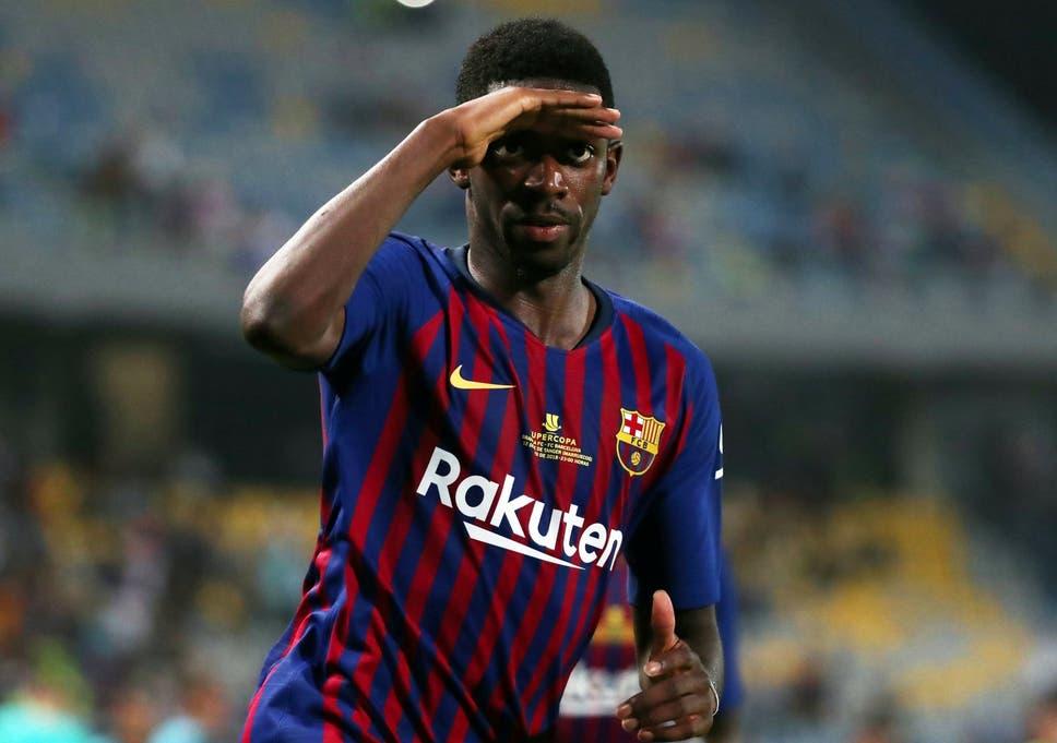 best loved 432f3 32a91 Ernesto Valverde hails Ousmane Dembele as Super Cup wonder ...