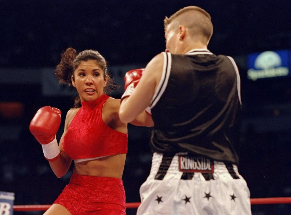 Mia St John during her early boxing days