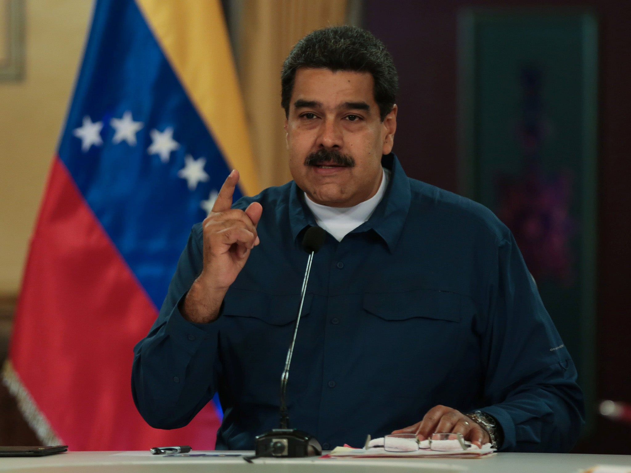 09a0a3dfe Venezuela's President Nicolas Maduro tells people fleeing country: 'Stop  cleaning toilets abroad and come back'   The Independent