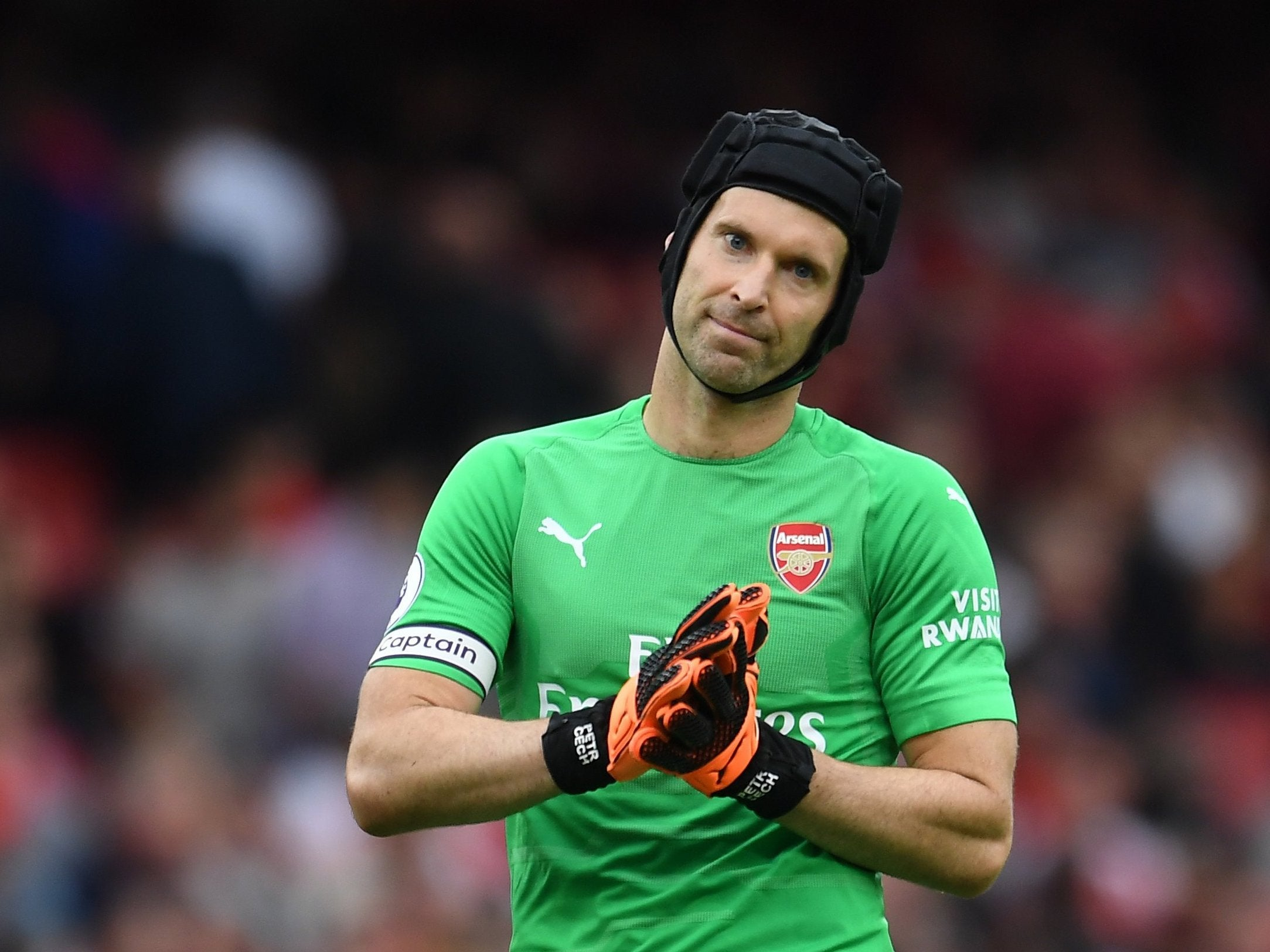 Petr Cech in Twitter spat with Bayer Leverkusen as they mock performance in Arsenal's defeat by Manchester City