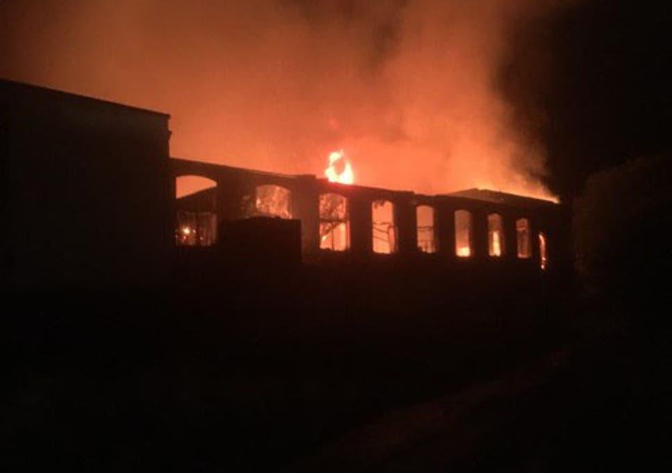rochdale fire families flee homes as huge mill blaze breaks out