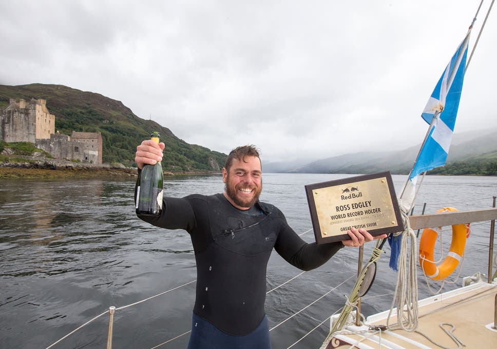 460f6b96a6c Man breaks world record for longest staged sea swim on day 74 of journey  around British mainland