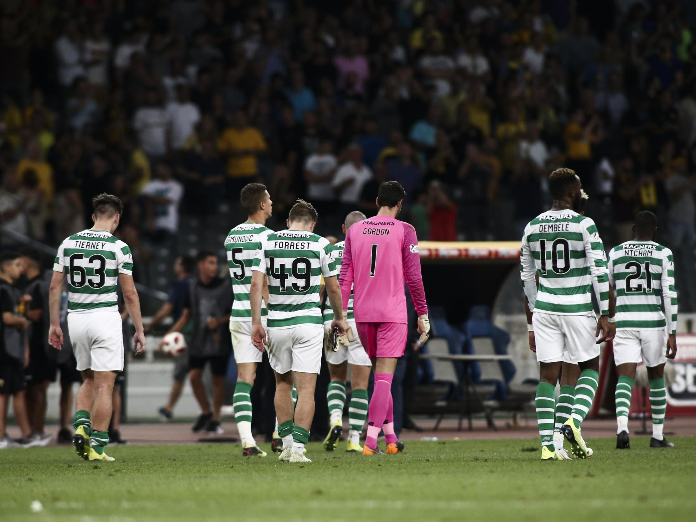Celtic's Champions League hopes dashed after defeat by AEK Athens