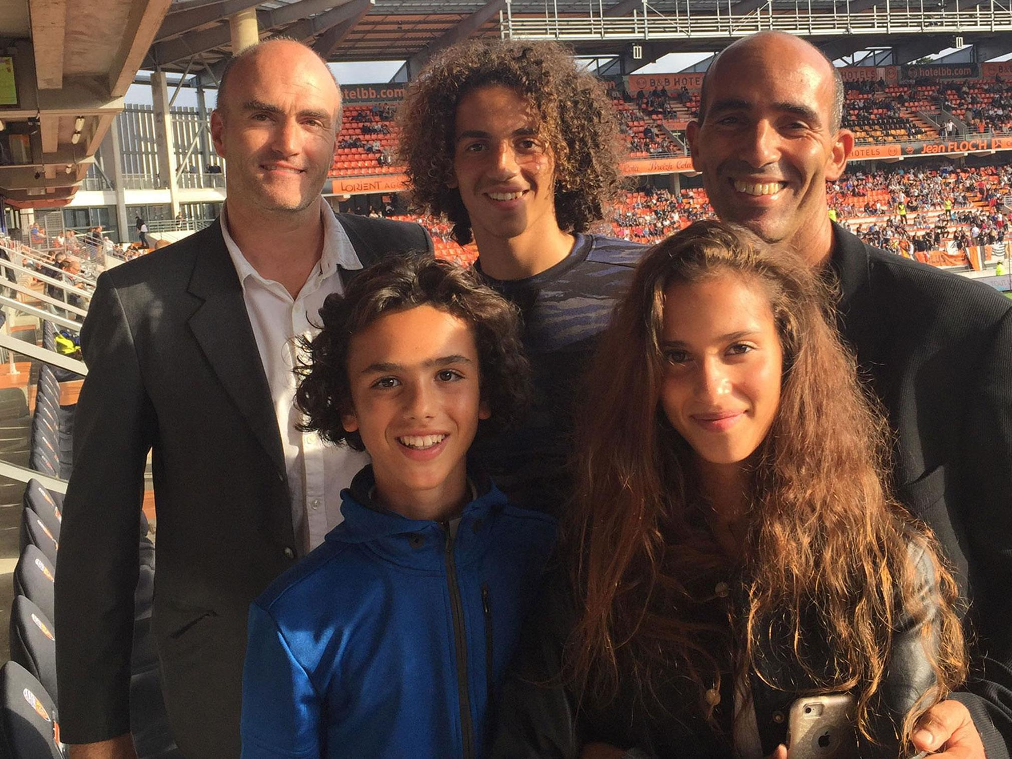 Picture of Matteo  Guendouzi Father, Sister & Brother, called