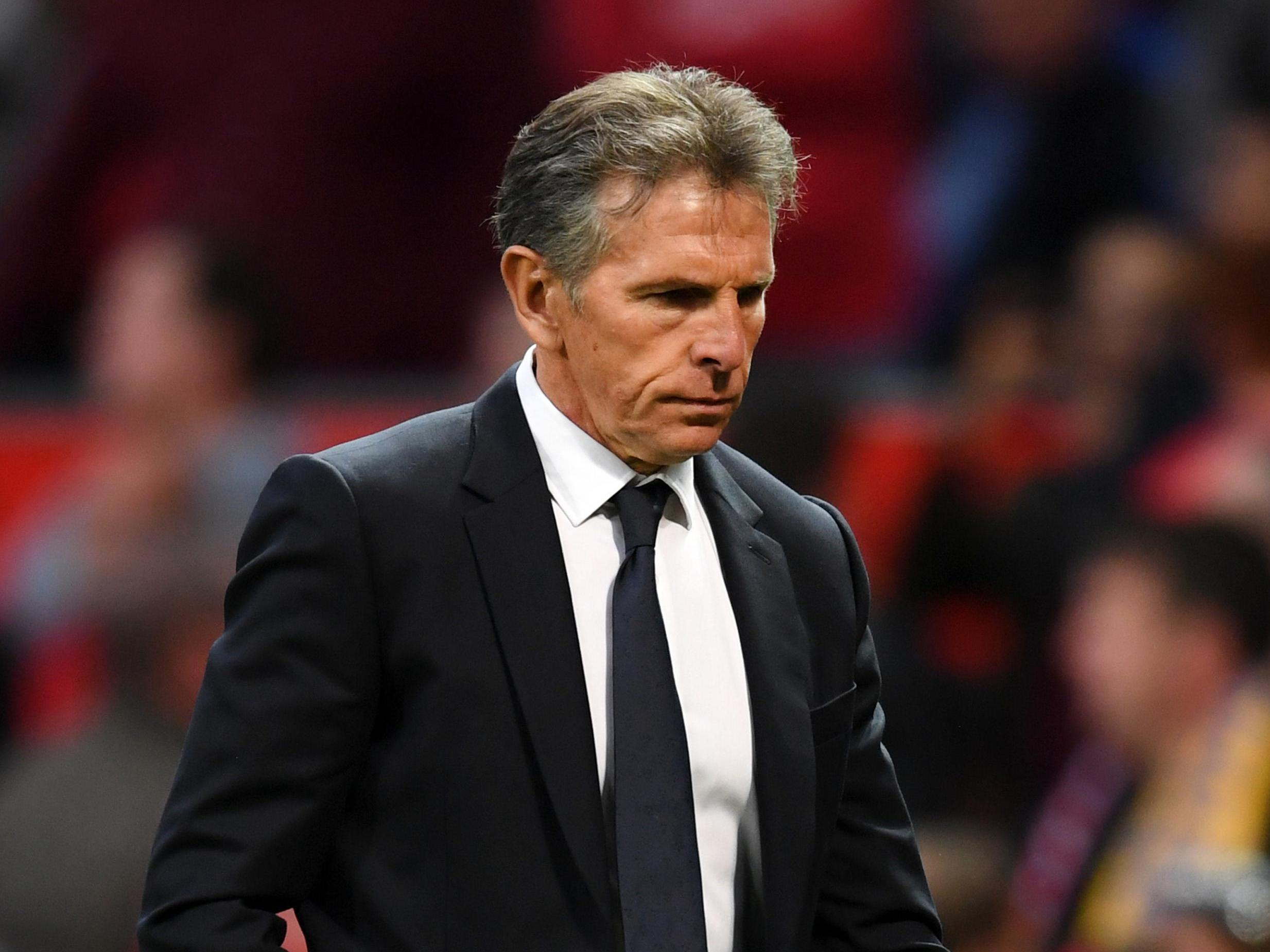 Leicester manager Claude Puel laughs off speculation he is under pressure after just one Premier League game