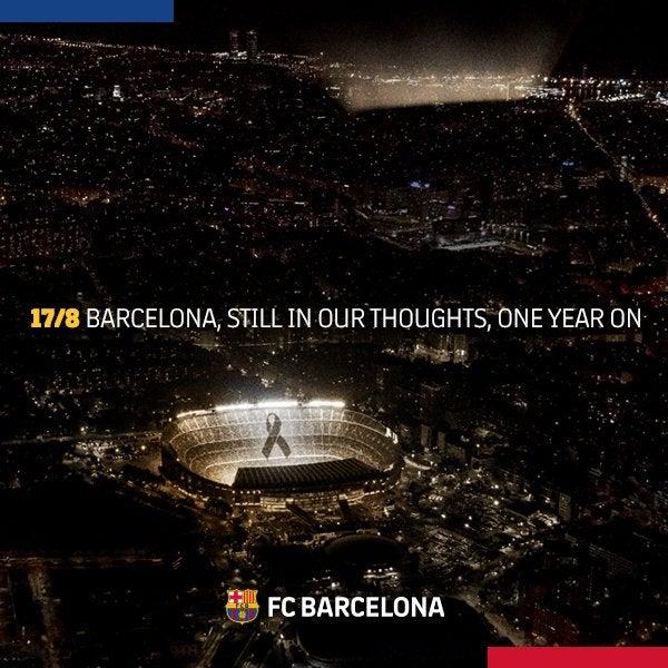 FC Barcelona remember Barcelona and Cambrils terror attack victims on eve of new La Liga season