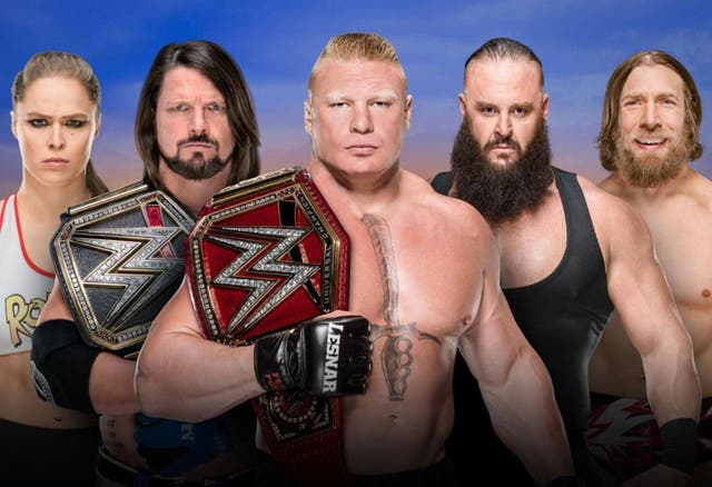 Brock Lesnar defends the WWE Universal Championship at Summerslam against Roman Reigns