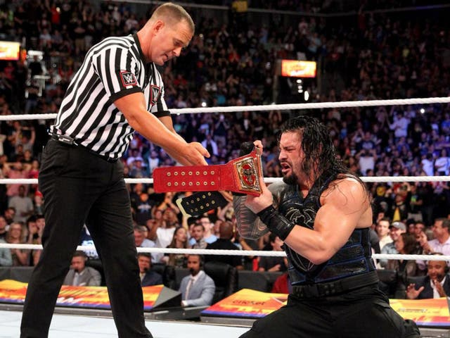 Roman Reigns beat Brock Lesnar to win the Universal Championship