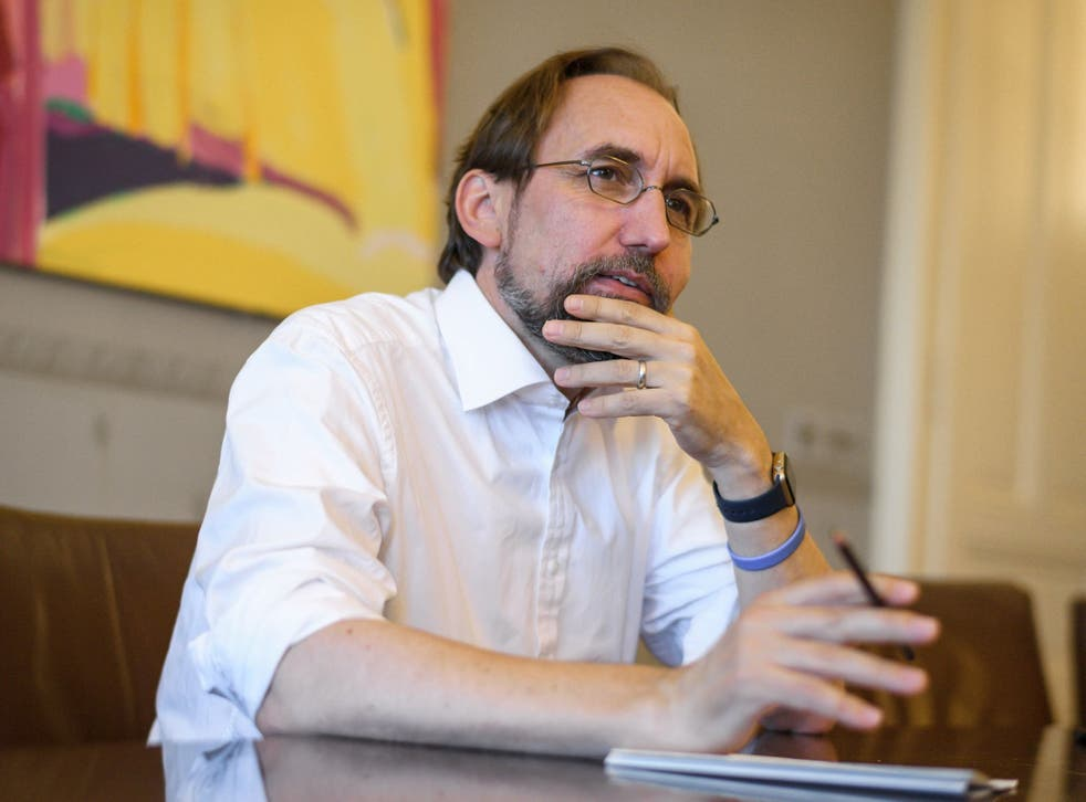 Mr Zeid's remarks come just before he finishes his four-year term