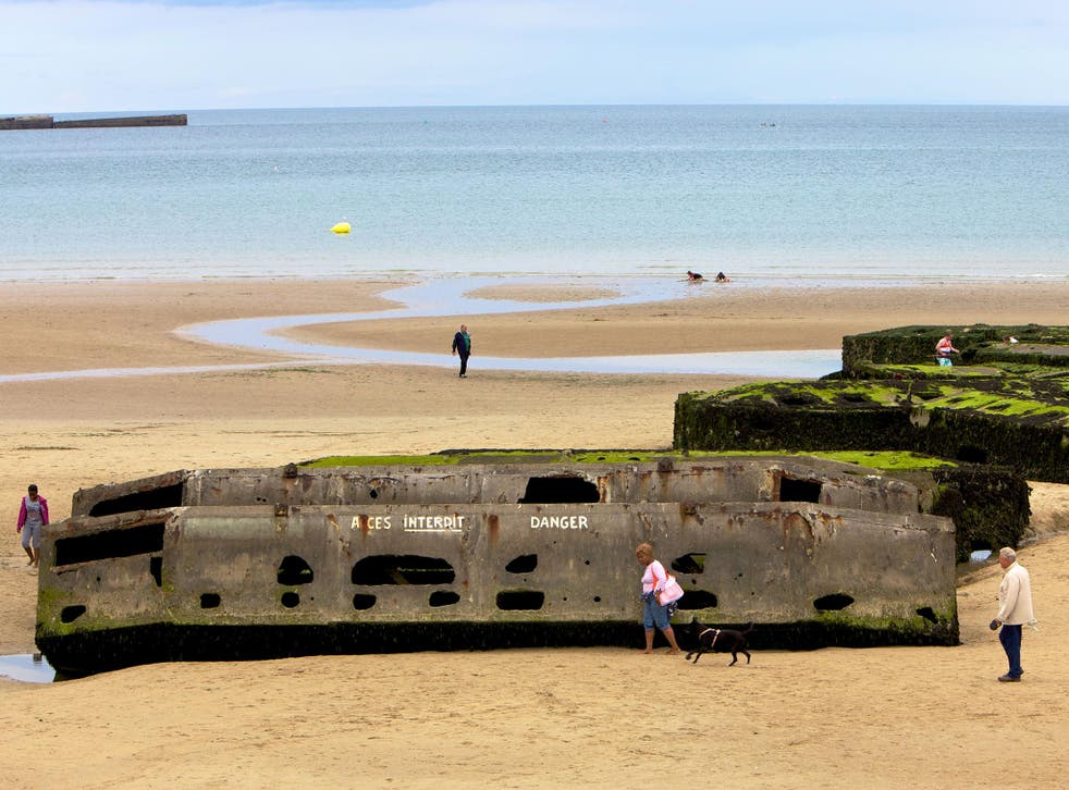 Omaha beach still bears the scars from some of the bloodiest fighting during the D-Day landings, the allies push to finally rid Europe of Nazism