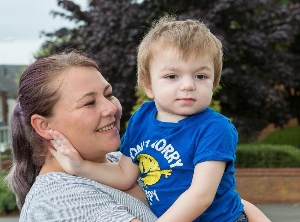 Rebecca Griffiths with her two-year-old son Reggie
