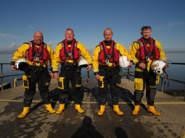 Ready for action: the volunteers of RNLI Silloth Lifeboat Station