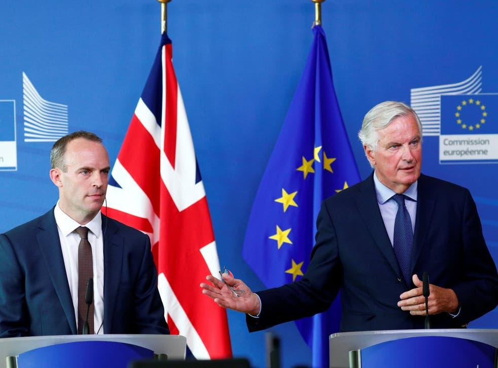 Dominic Raab visited Brussels last week for meetings with Michel Barnier