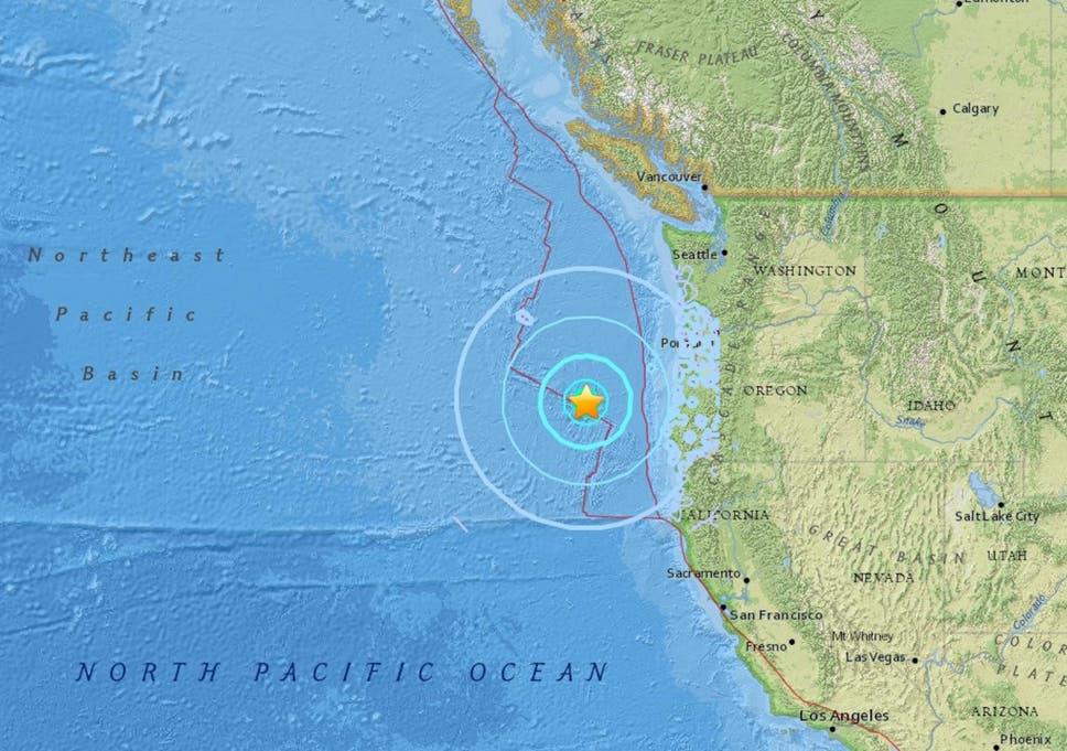 Oregon Earthquake Magnitude 6 2 Offshore Quake Shakes Portland