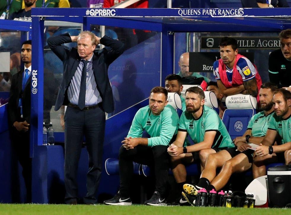 Steve McClaren watches QPR struggle to defeat against Bristol City
