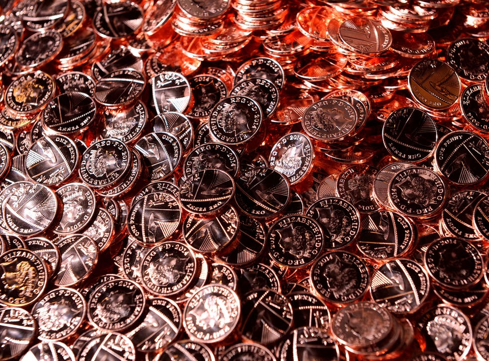 Six out of every ten 1p and 2p coins are used just once before they drop out of circulation