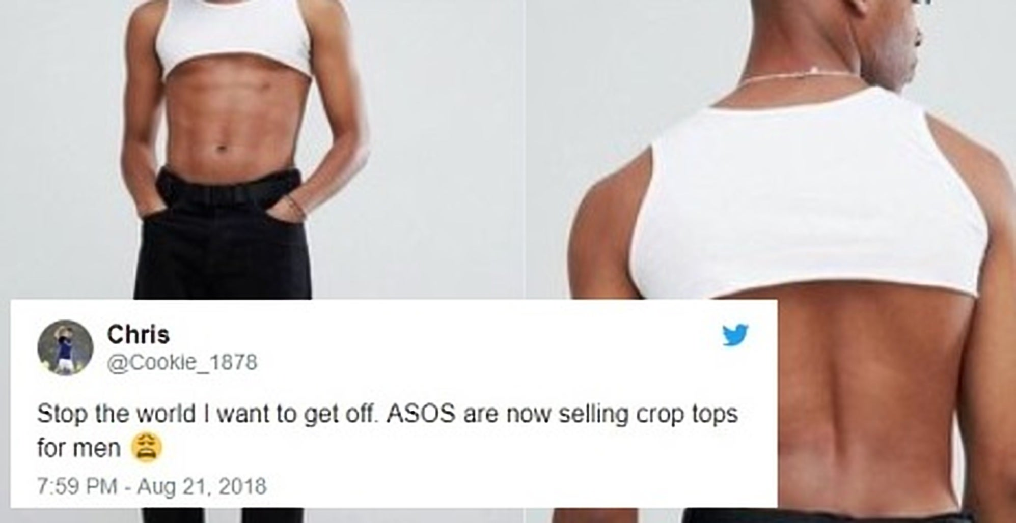 2749bef6e426cb ASOS s crop top for men is showing how fragile masculinity is