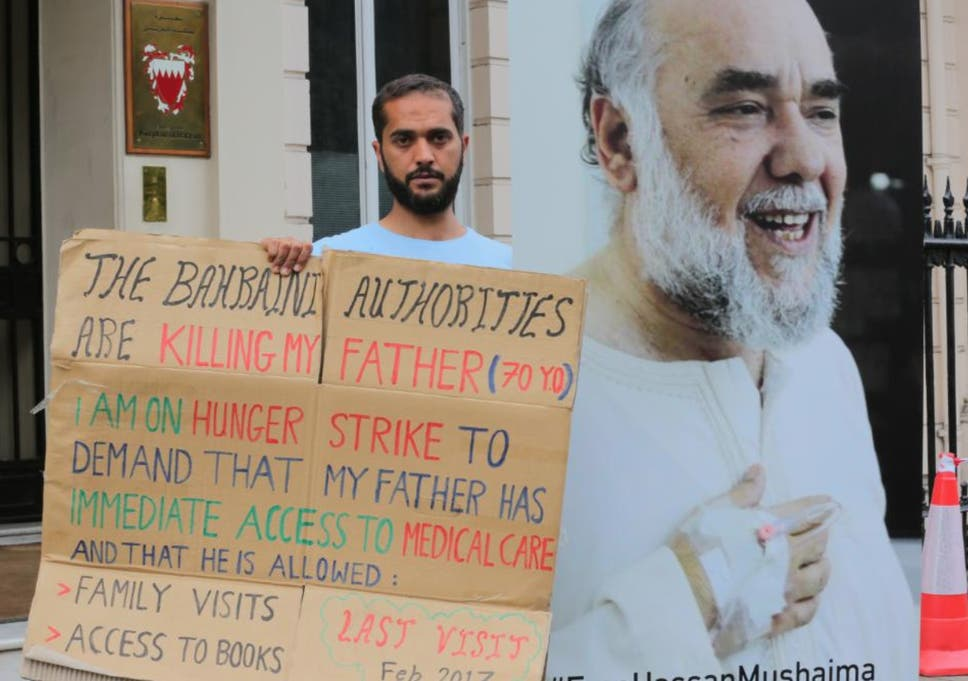 Man On Hunger Strike Outside Bahrain Embassy Asks Queen To Help Save