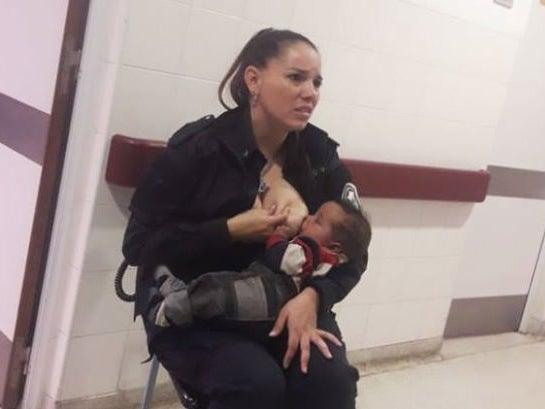 Celeste Ayala: Argentine police officer who breastfed crying malnourished toddler is promoted thumbnail
