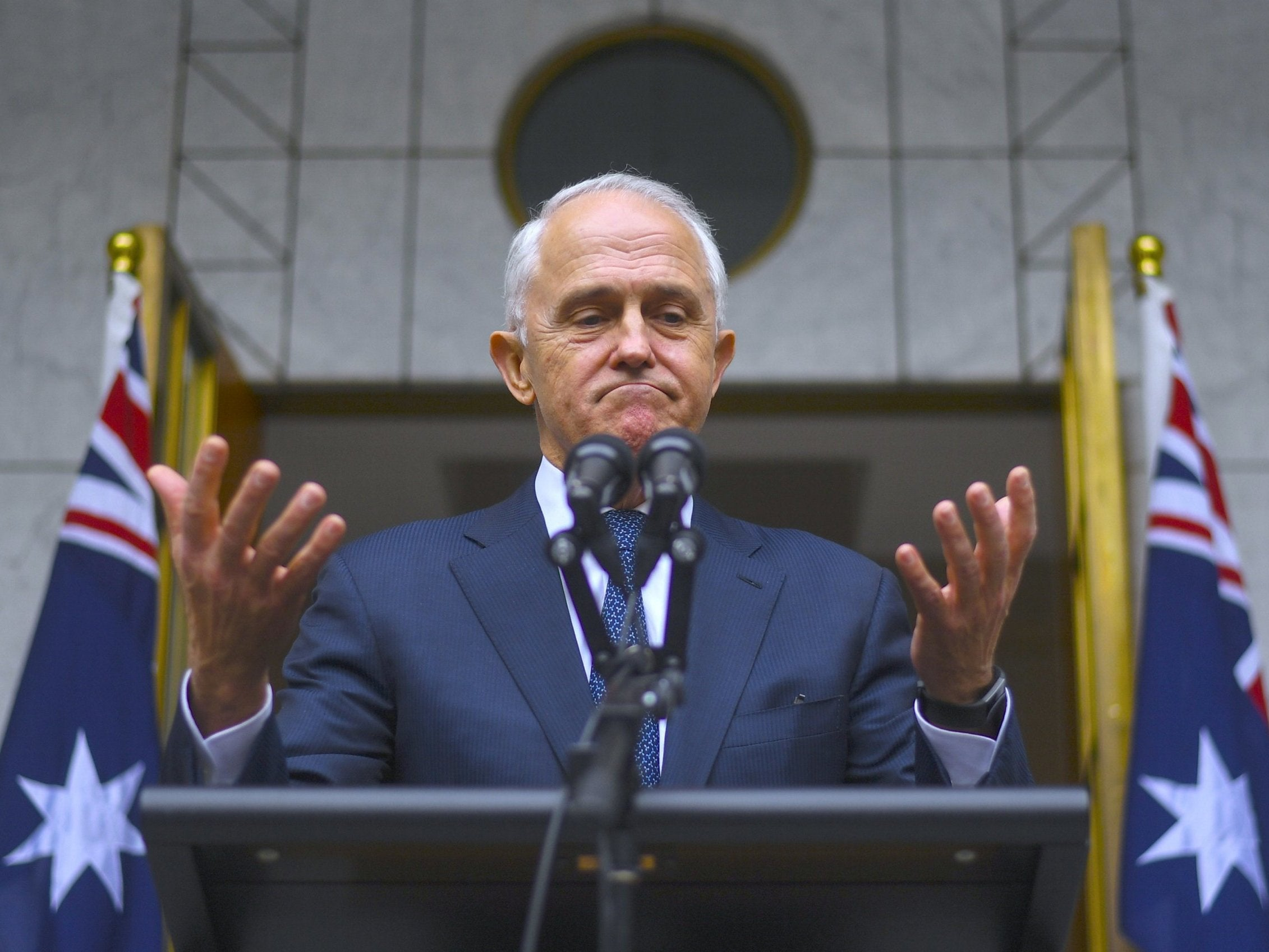 Australia PM Malcolm Turnbull faces being ousted as his own party pulls support