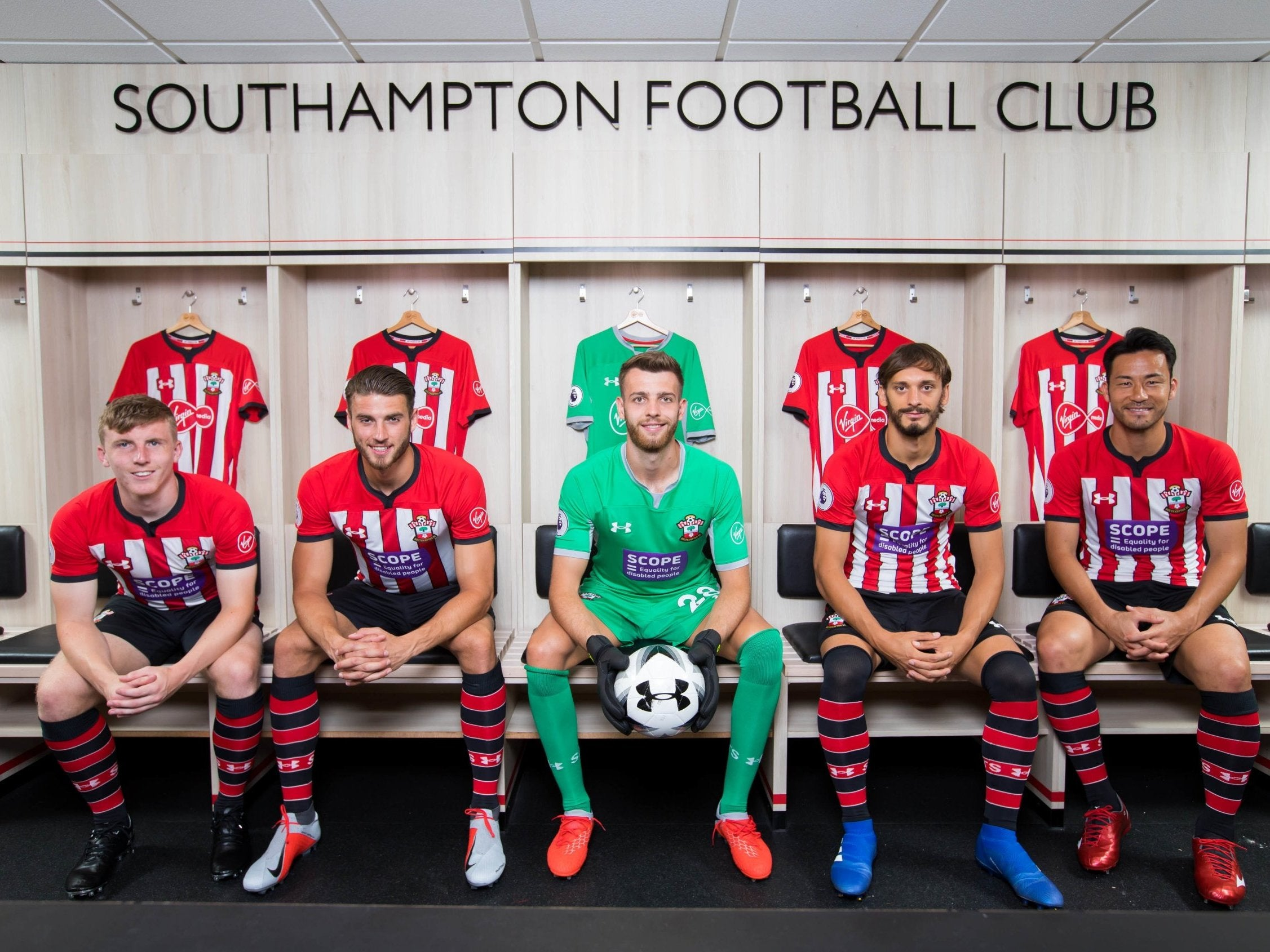 95b00c7e1ce Southampton will swap their Virgin Media sponsorship for the Scope logo to  raise awareness for disability equality (PA)