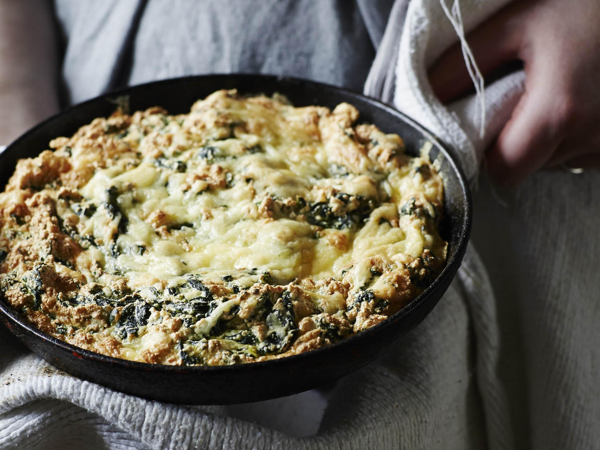 How to make frying-pan spinach soufflé 1
