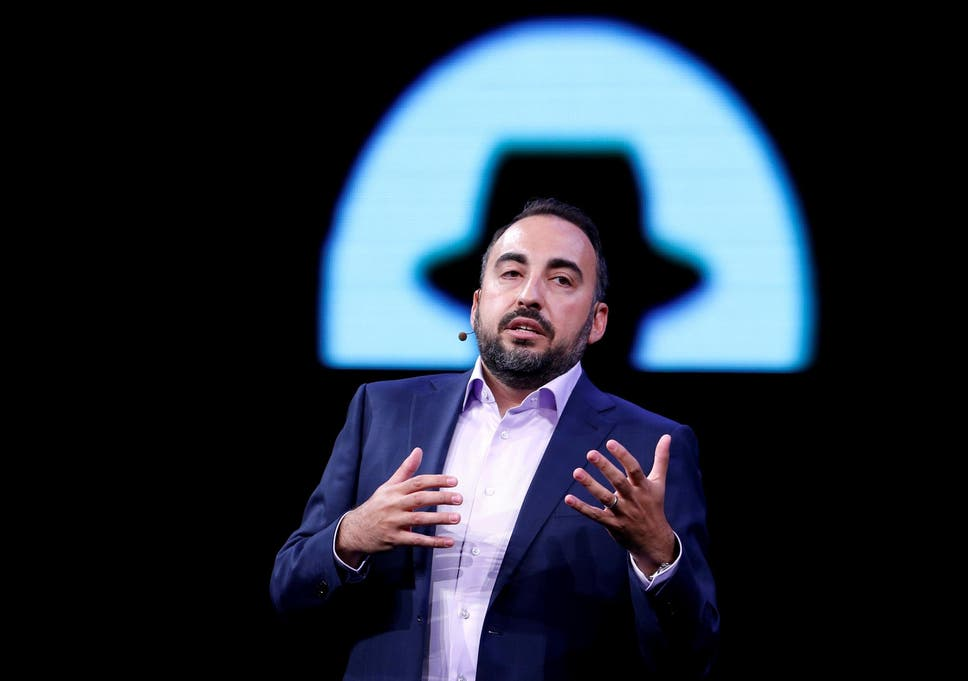 dc05dcbcd1c Former Facebook Chief Security Officer Alex Stamos gives a keynote address  during the Black Hat information