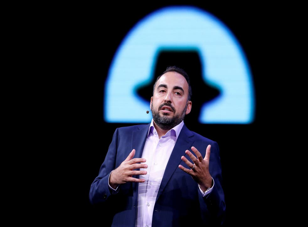 Former Facebook Chief Security Officer Alex Stamos gives a keynote address during the Black Hat information security conference in Las Vegas, Nevada, U.S. July 26, 2017