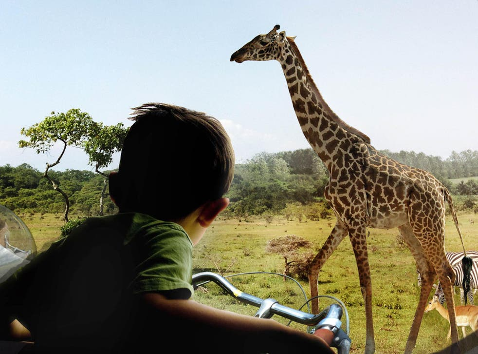 Denmark's Zootopia project  proposes 'savannah craters' to accommodate animals such as giraffes and zebras