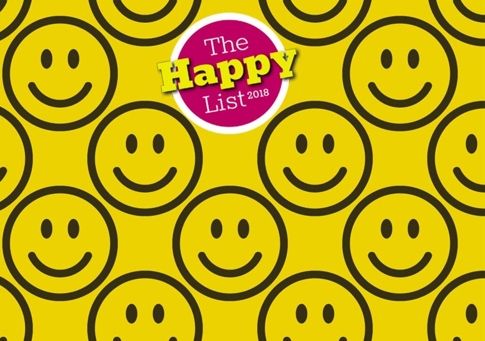 00abf0b218 The Independent s Happy List 2018  The full list of people who make life  better for others