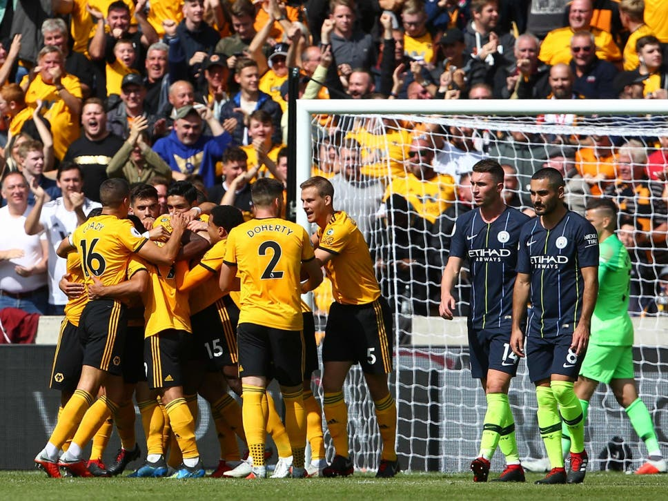 Wolves celebrate their fortunate opener by Wolly Boly