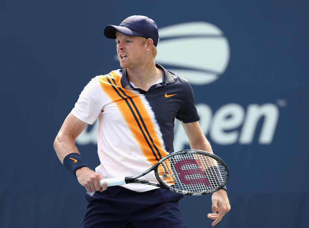 Kyle Edmund was beaten in four sets by Paolo Lorenzi