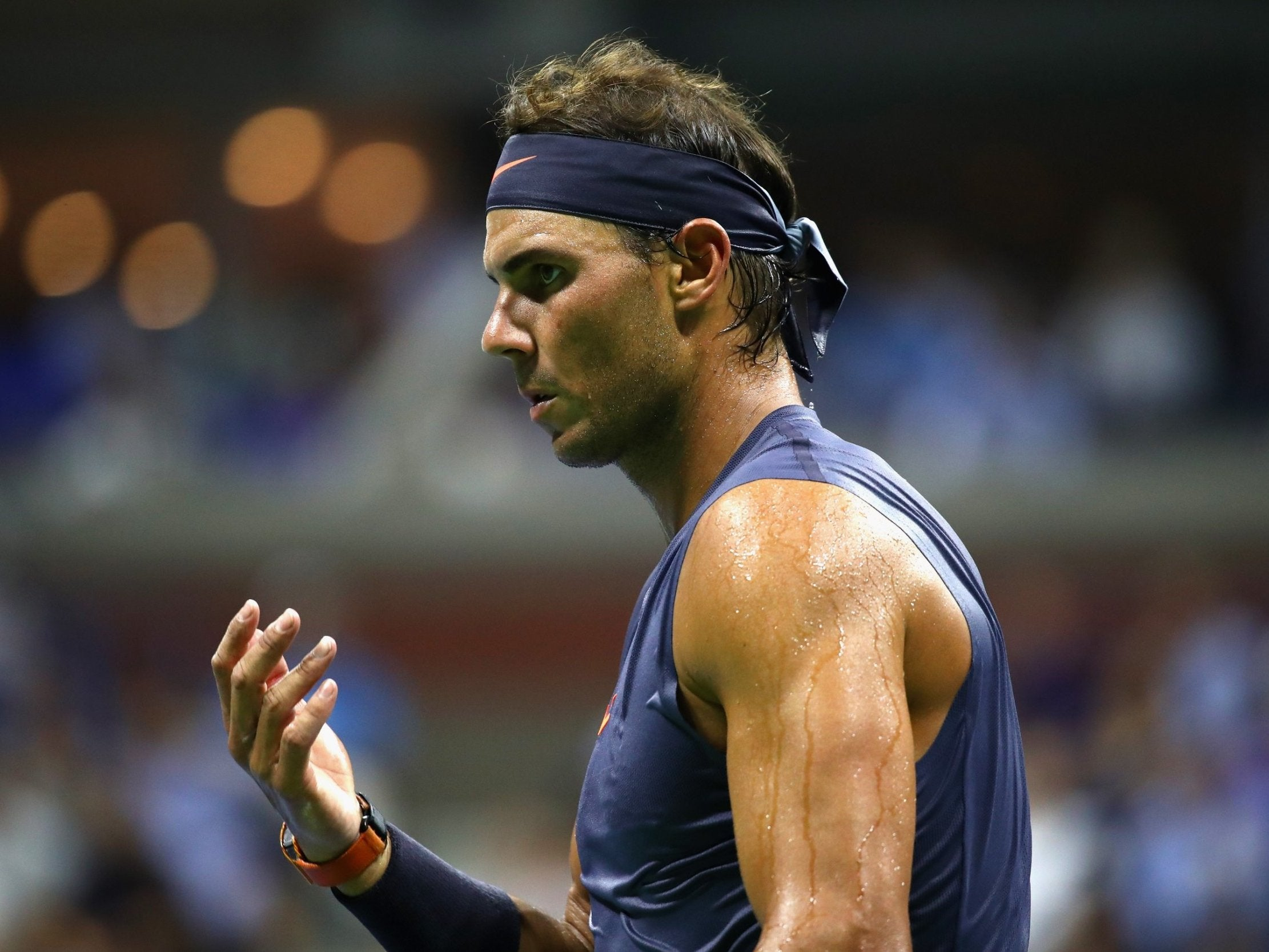 Us Open 2018 Rafael Nadal Through After David Ferrer Retires Injured The Independent The Independent