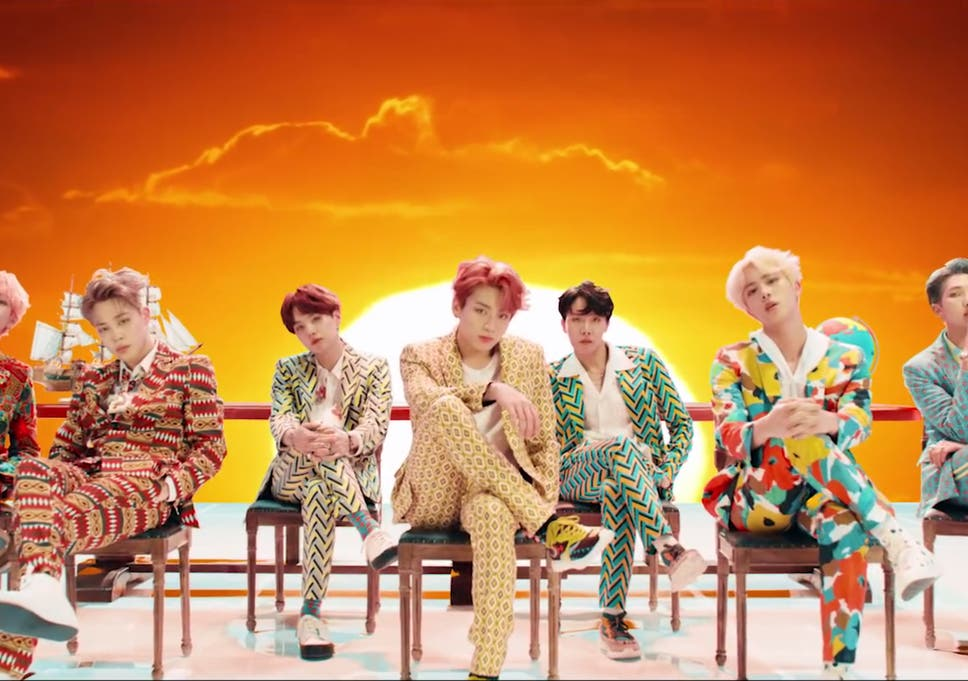 BTS in the music video for 'IDOL'