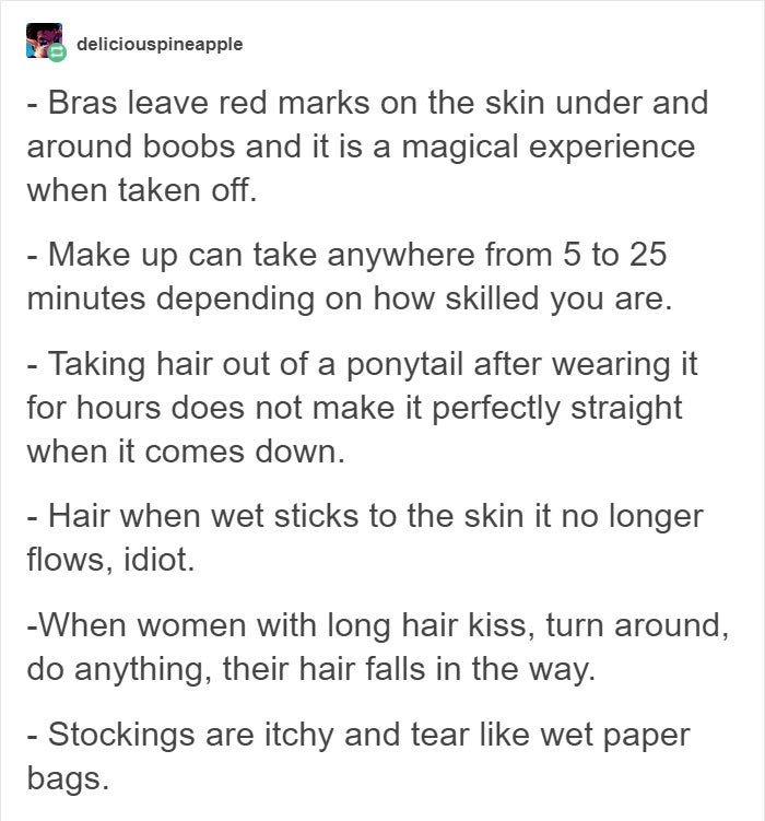 Dear Men Writers Women On Tumblr Point Out The Most Common Mistakes