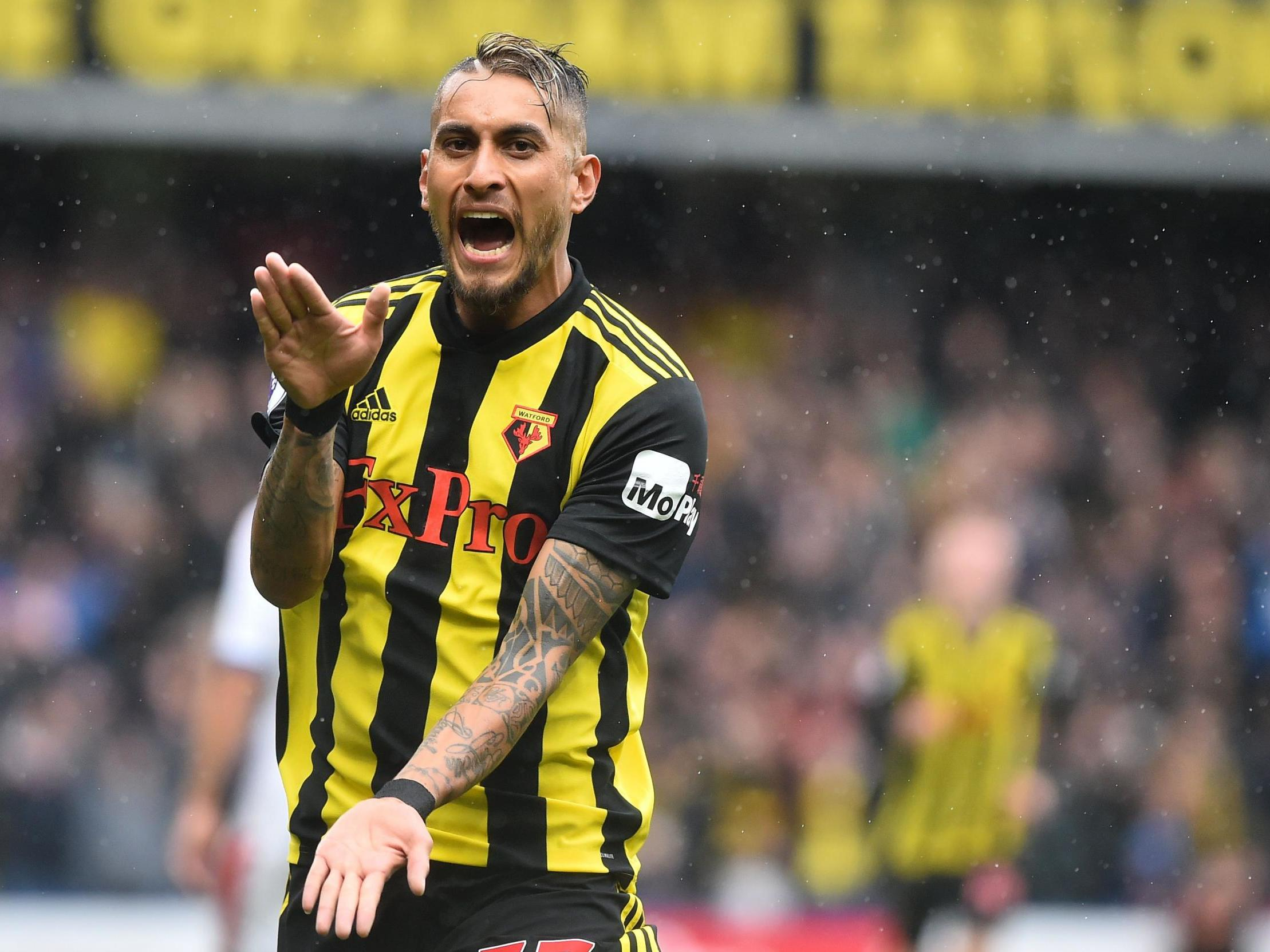 Javi Gracia hails attitude of in-form Watford midfielder Roberto Pereyra | The Independent | The Independent