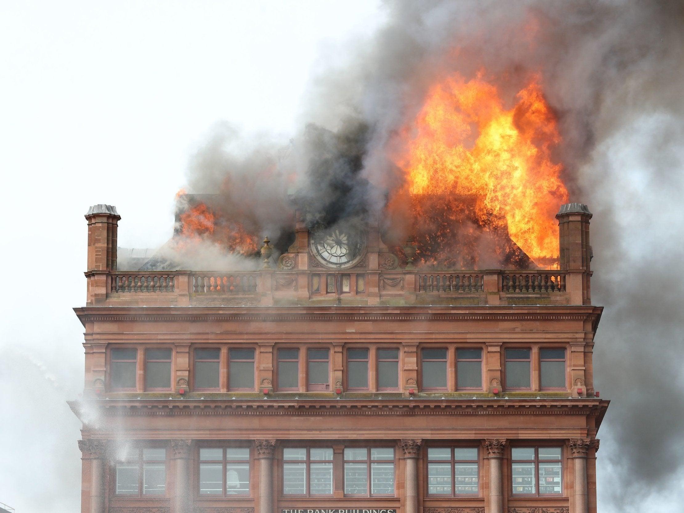 Primark fire: Shoppers evacuated as huge blaze breaks out in Belfast