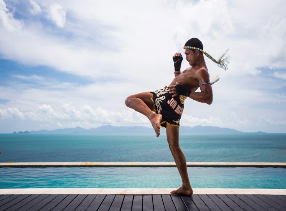 Just for kicks: infinity pools, spas and smoothies make for a relaxing backdrop to some serious fighting