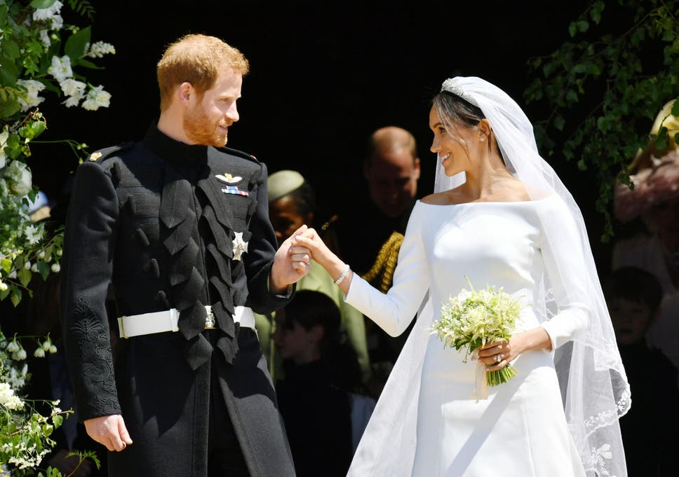 48aeddcabd Prince Harry and Meghan Markle s royal wedding outfits are on display