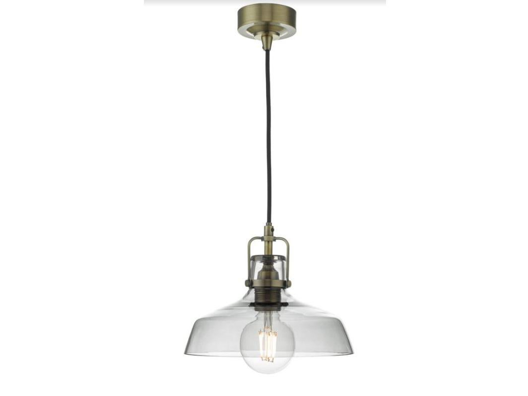 10 Best Pendant Lights The Independent Wiring A Kitchen Light Fitting Miles Proves You Dont Need Huge Budget To Find Statement Industrial Style Of Its Transparent Glass Shade And Brass Hardware Is