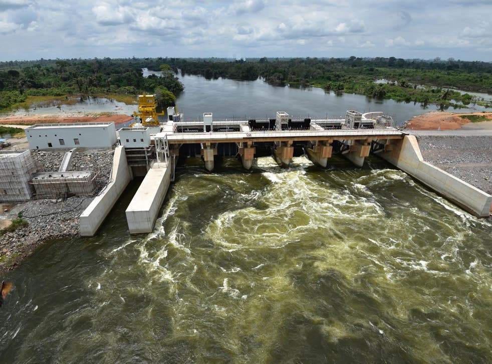 The Soubre hydroelectric dam, built by China to reduce the energy deficit in the Ivory Coast
