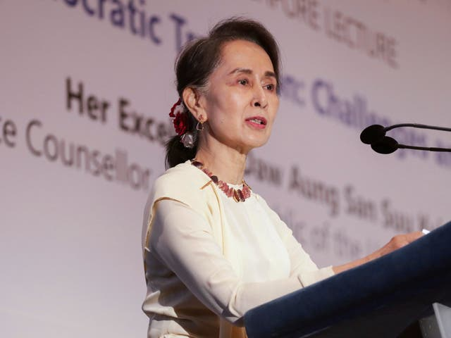 Suu Kyi has been internationally condemned for her silence over military atrocities near the border of Bangladesh