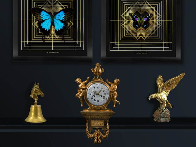 A golden age: the Curious Department's Deco Square artworks are good enough for Gatsby, from £60