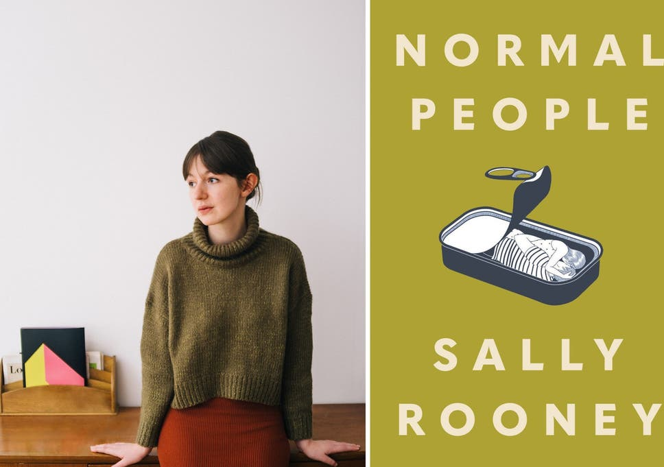 "Sally Rooney and the cover of ""Normal People"""