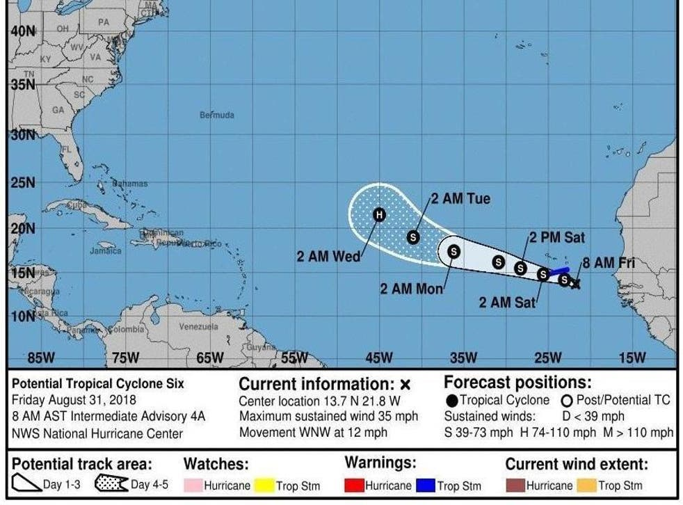 The storm could strengthen into a hurricane over the next several days