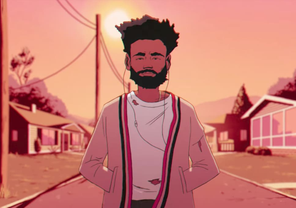 a cartoon childish gambino in the feels like summer video - All I Want For Christmas Is You Soulja Boy