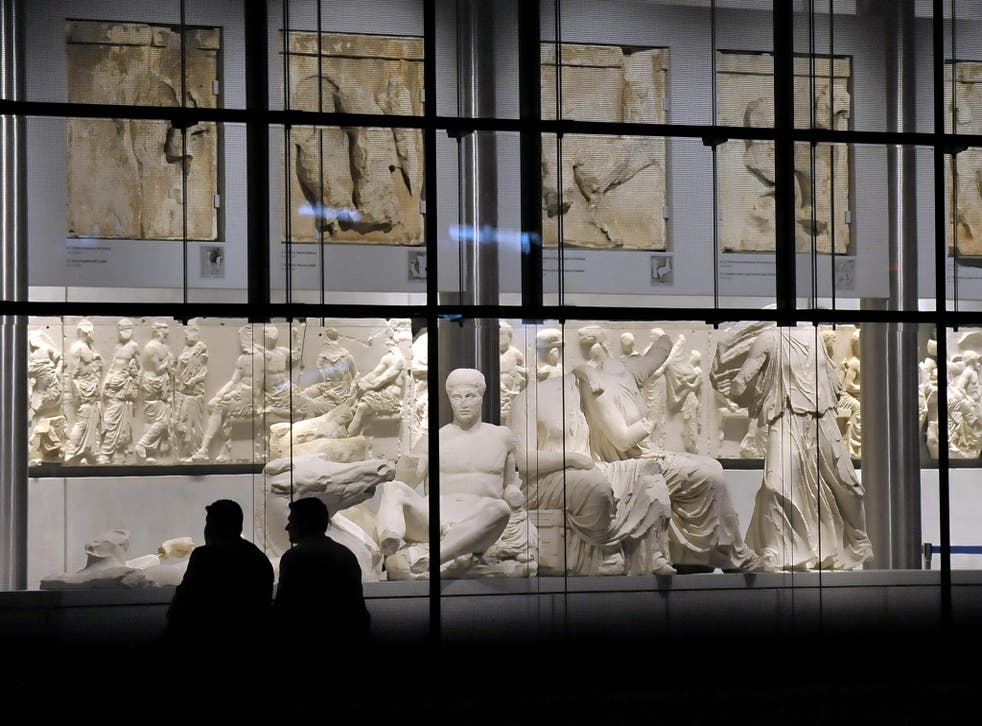 The Parthenon hall of the Acropolis Museum in Athens